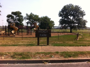 Hickey Park - located at Harlan Avenue and North Broadway.